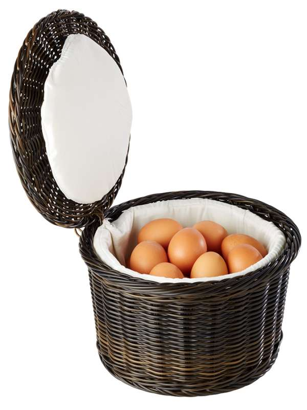 Tojás melegen tartó kosár Ø 26x17cm, kb. 20 tojásnak (AP40299)