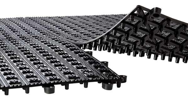 Csöpögtető rács, egymásba illeszthető, 33x33x1,5cm fekete (AP93303)