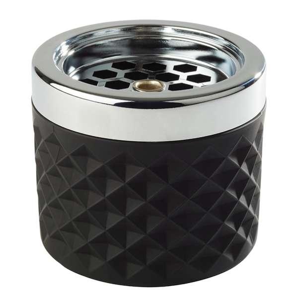 Szélbiztos hamutál színes külsővel Ø 9,5x8cm fekete (AP00582)
