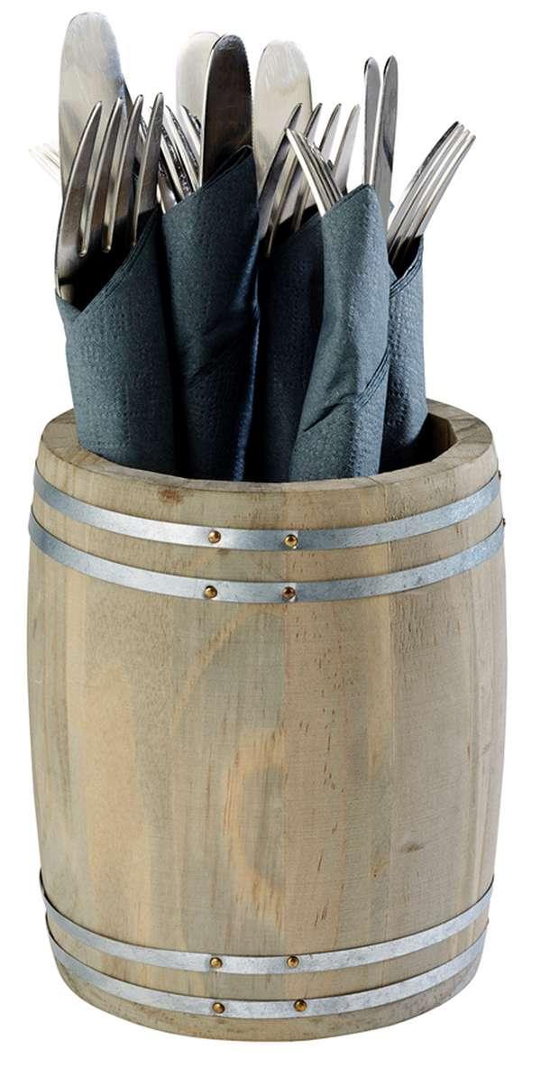 Hordó alakú tartó Ø 11,5x14,0cm (AP11931)