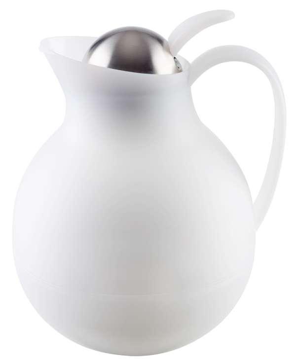 Thermosz nyomógombos, Ø 16x20cm 1,0l fehér (AP10913)