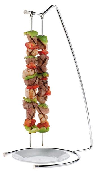 Kebab és rablóhús szervírozó állvány Ø 22x46cm, két pálcával, Ø 0,3x40cm (AP75001+02)