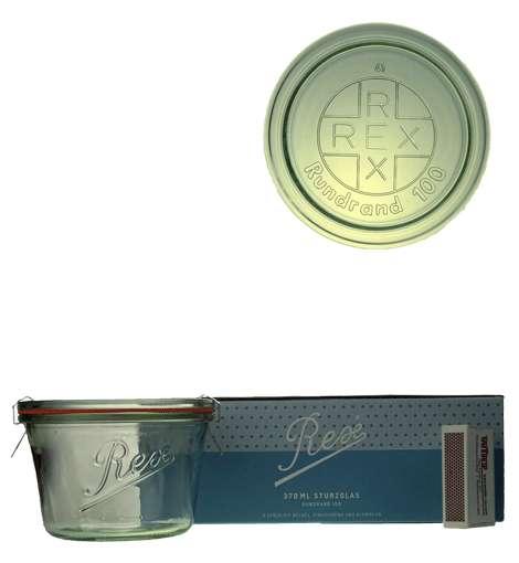 Rex-STURZ üveg 0.370l, tetö, gumigyürü és csat, Rex Horeca (BRE1370)