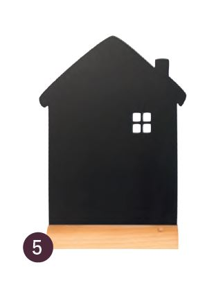 Securit® sziluett kréta tábla Ház- fa alap, krétamarkert tartalmaz, 33x21x6cm (SEC1050)