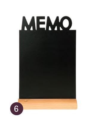 "Securit® sziluett kréta tábla ""MEMO""- fa alap, krétamarkert tartalmaz, 34,5x21x6cm (SEC1053)"