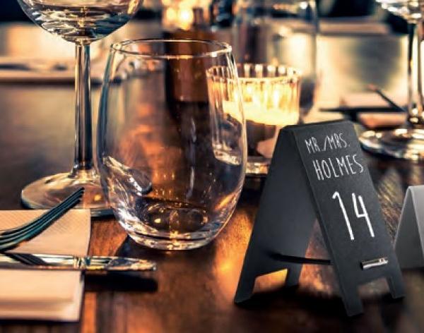 Securit® Mini asztali Szendvics krétatábla, 17x5x0,3cm/ 5 darabos készlet, krétamarkerrel (SEC1085)