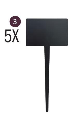 Securit® sziluett leszúrható négyszögletes kréta tábla címkék - 5-ös készlet, tábla markerrel, 18x8x1,5cm (SEC1070)