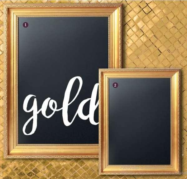 Securit® Arany Chalk Tábla -Securit® Arany Chalk Tábla -kifinomult, gravírozott kerettel - 75x100cm (SEC1011)