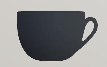 Securit® sziluett kréta tábla Csésze- tartalmaz tábla markert és falra ragasztó csíkot - 30x50cm (SEC1034)