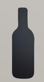 Securit® sziluett kréta tábla Üveg- tartalmaz tábla markert és falra ragasztó csíkot - 30x50cm (SEC1027)