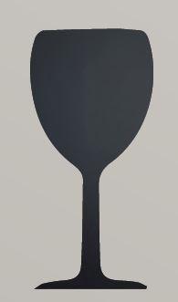 Securit® sziluett Boros Pohár kréta tábla - tartalmaz tábla markert és falra ragasztó csíkot - 30x50cm (SEC1039)