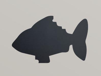 Securit® sziluett kréta tábla Hal- tartalmaz tábla markert és falra ragasztó csíkot - 30x50cm (SEC1037)