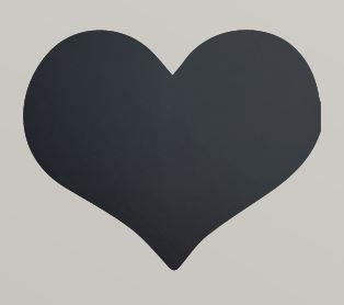Securit® sziluett Szív kréta tábla - tartalmaz tábla markert és falra ragasztó csíkot - 30x50cm (SEC1040)
