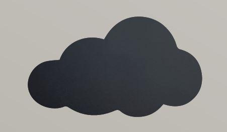 """Securit® sziluett kréta tábla """"KIDS MENU"""" Felhő- tartalmaz tábla markert és falra ragasztó csíkot - 30x50cm (SEC1033)"""