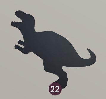 """Securit® sziluett kréta tábla """"KIDS MENU) Dinoszaurusz - tartalmaz tábla markert és falra ragasztó csíkot - 30x50cm (SEC1035)"""