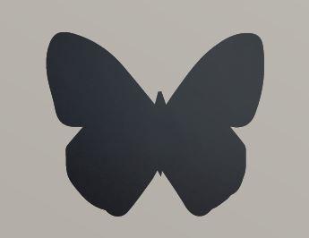 """Securit® sziluett kréta tábla """"KIDS MENU"""" Pillangó- tartalmaz tábla markert és falra ragasztó csíkot - 30x50cm (SEC1029)"""