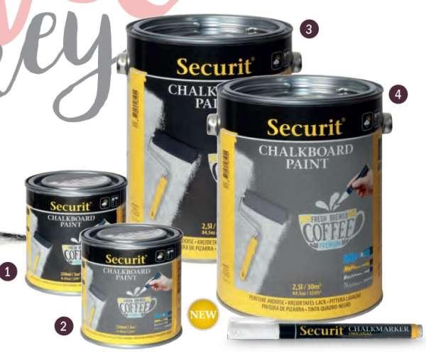 Securit® Krétatábla festék- Fekete - 250 ml (SEC1161)