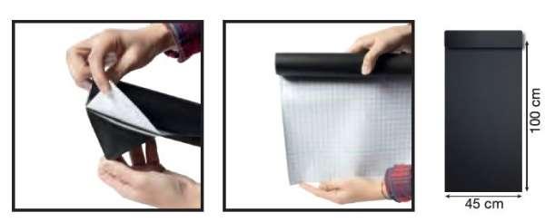 Securit® Öntapadós krétatábla, tekercses, Fekete, 100x45cm (SEC1180)