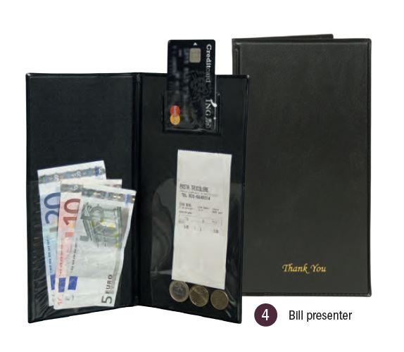 Securit® Basic Számla bemutató, készpénz és bankkártya tartóval, FEKETE (M004)
