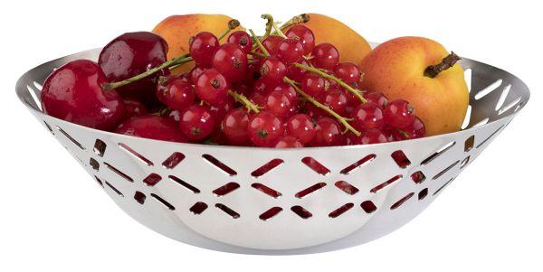 Gyümölcs / Kenyérkosár rm. acél, 17x5cm (AP30273)