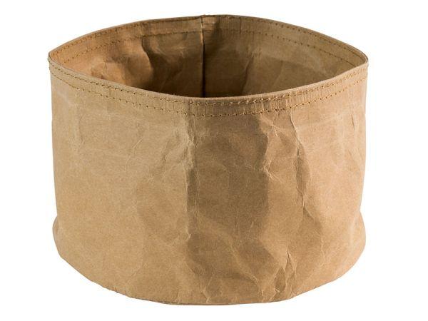Nátronpapír vízálló kenyérkosár világosbarna, extra strapabíró kemény papírból 17x11cm (AP30440)