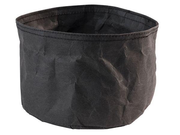 Nátronpapír vízálló kenyérkosár fekete, extra strapabíró kemény papírból 17x11cm (AP30441)