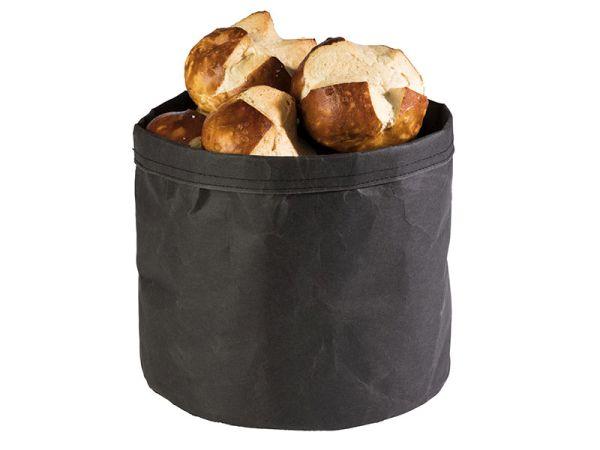 Nátronpapír vízálló kenyérkosár fekete, extra strapabíró kemény papírból 24x24cm (AP30445)