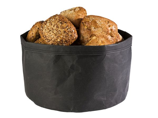 Nátronpapír vízálló kenyérkosár fekete, extra strapabíró kemény papírból 30x22cm (AP30446)