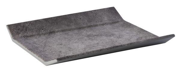 """GN 1/2 26,5x32,5x3,5cm """"ELEMENT"""" kő hatású melamin tálca felhajtott oldallal (AP84401)"""