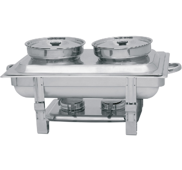 Chafing, 2 levestál+2 fedővel+2 égőpasztatartóval (K80101200)