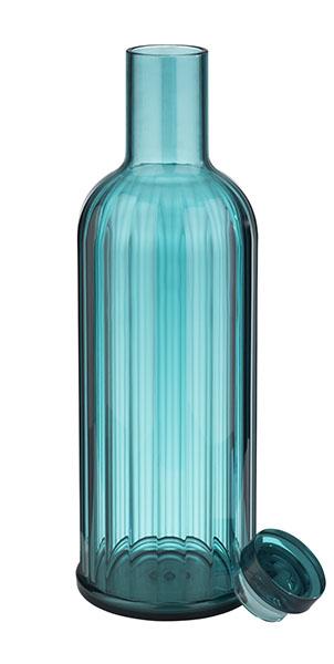 Vizesüveg szilikon/üveg dugóval STRIPES 8x28cm 0,8l (AP10749)