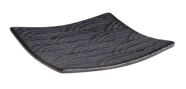 DARK WAVE melamin tálca (14x14x2cm) (AP84904)