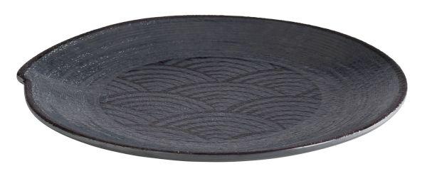 DARK WAVE melamin tálnyér (22x2cm) (AP84908)