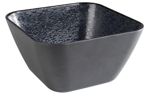 DARK WAVE melamin tál (18x18x10cm, 1,6l) (AP84914)