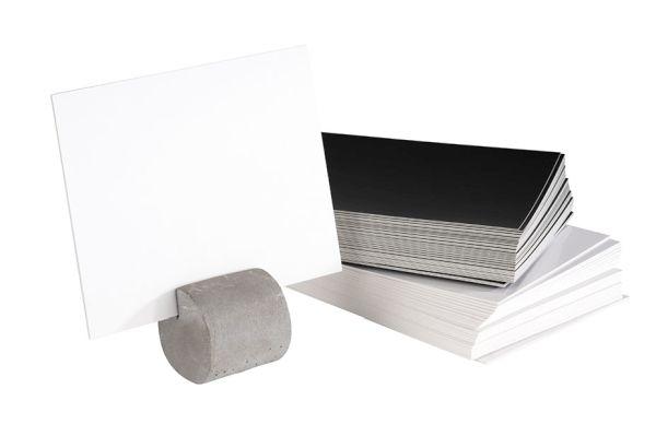 Kártyatartó 4db-os szett beton, 15db fehér és 15db fekete kértyával (3x3x3cm) (AP71492)