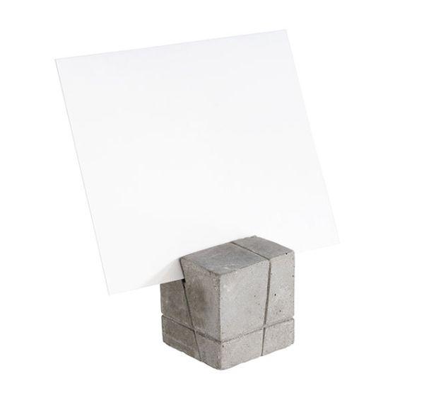 Kártyatartó 4db-os szett beton, 15db fehér és 15db fekete kártyával (3x3x3cm) (AP71493)
