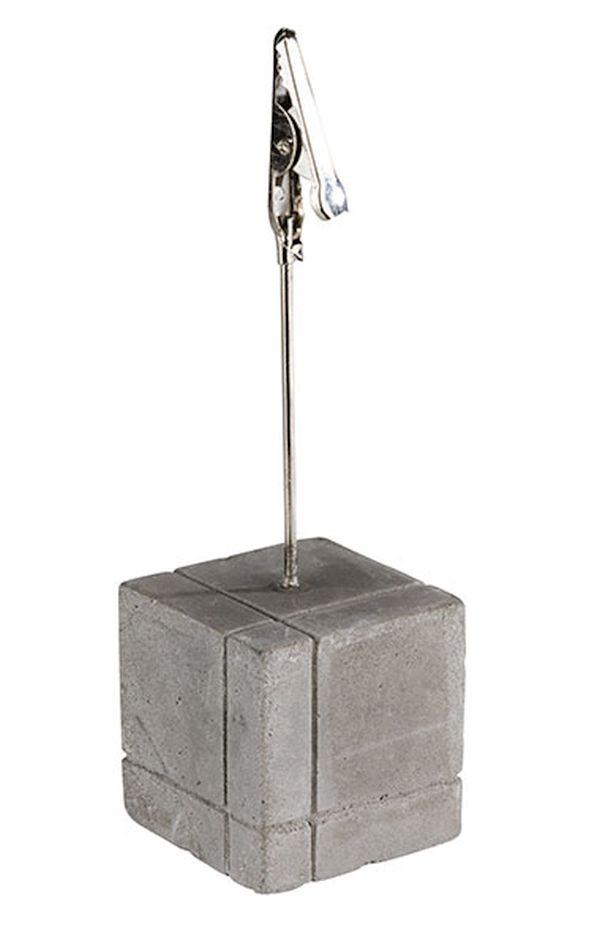 Kártyatartó 4db-os szett beton, 15db fehér és 15db fekete kértyával (3x3x12cm) (AP71493)